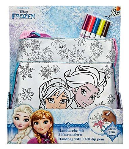 Undercover FRZH2420 - Handtasche zum Bemalen, Disney Frozen inklusive 5 Fasermalern