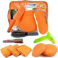 12PCS Auto reinigungsset Innen Aussen,Auto Pflege Kit,Auto Autopflege Reinigung Set,Auto Reiniger Set Außen,Autowäsche…
