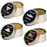 BBQ KING - Multi Pack Pitmaster Rub per Barbecue, 4 Confezioni da 70 Gr di Dry Rub Bbq, Miscela di Spezie 100% Made in Italy,