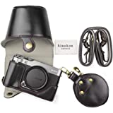 FUJI X-A7 fodral, kinokoo kamerafodral kompatibel med FUJI X-A7 och 15-45 mm lins med axelrem, fujifilm XA7 skyddsfodral (sva