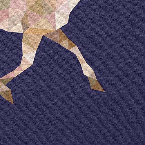 TEXLAB - Poly Deer - Herren Langarm T-Shirt Navy