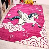 Paco Home Kids Carpet The Little Unicorn Children Room Carpets In Pink Cream Turquoise