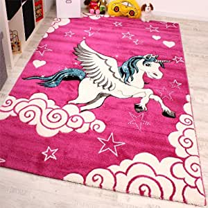 Children's Bedroom Carpet for Children Little Unicorn Pink ...