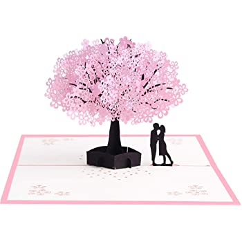 Nature Card 3D Christmas Cards Pop Up Greeting Holiday Cards Gifts for Xmas/New Year/Birthday Card Tree Card Couple Tree