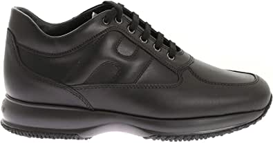 Hogan Luxury Fashion Uomo HXM00N00010KLAB999 Nero Pelle Sneakers   Stagione Permanente