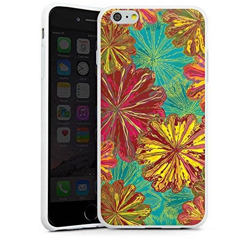 Apple iPhone X Silikon Hülle Case Schutzhülle Herbst Blumen Muster Silikon Case weiß