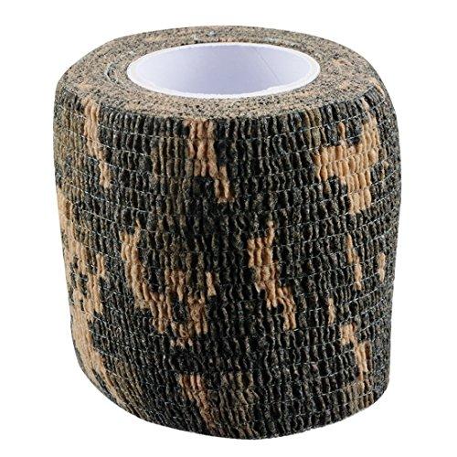 Sfit Outdoor Tape für im freien multifunktionelle elastische Camouflage Muster Deko Band (ACU-Tarnung)