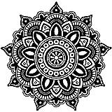 Mandala Wandtattoo Blumen-Mandala-Vinylaufkleber Indischer Lotus Murals Interior Home Boho Dekor Bohemian MN342