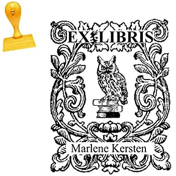 Neu 02 ! EX LIBRIS EXLIBRIS STEMPEL mit WUNSCHNAMEN