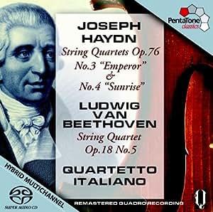 Haydn : Quatuor op.76 N°3 Hob III: 77 «L''Empereur» - Beethoven : Quatuor op.76 N°4 Hob III:78 Le Lever du Soleil