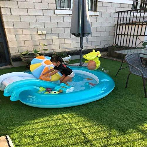 LX inflatable toys Aufblasbarer Swimmingpool des Kleinen Krokodils des Wassersprays Aufblasbare Spielzeuge, Faltbarer Wannenspielpool des Babypools Marineballpool - 203 * 173 * 89 A