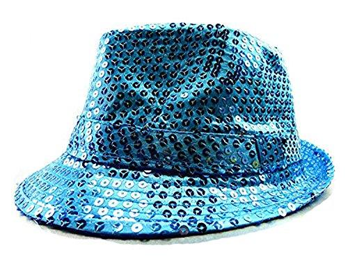 LED Party Hut Pailletten Huete mit Lichtern Fasching Hüte (türkis)