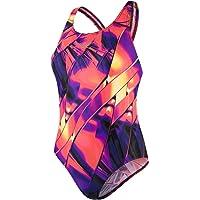 Speedo Women's Fractal Glaze Placement Powerback Swimsuit