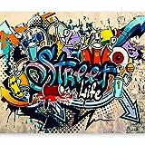 murando Papier peint intissé 350x256 cm Décoration Murale XXL Poster Tableaux Muraux Tapisserie Photo Trompe l'oeil Graffiti coloré eau i-A-0108-a-b