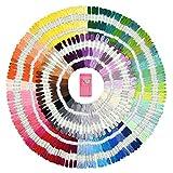 Premium Sticktwist Mega Pack – Freundschaft Armbänder Floss – Kreuzstich Threads, Crafts Floss – 210 Floss Garnknäuel Pro Kärtchen, jeweils frei Set von Hoher Qualität Sticknadeln