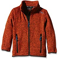 CMP forro polar 3H60744, todo el año, niño, color Naranja - Fiesta-Antracite, tamaño 8 años (128 cm)