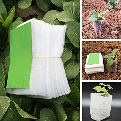 Woopower semis Sacs de chambre d'enfant, 100 pcs/lot de tissu non tissé biodégradables Pots semis Raising Sacs Jardin Fournitures, 8 x 10,1 cm/14 x 16 cm/20,1 x 22,1 cm 8*10cm/3.15\