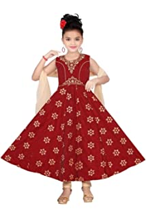 Girls Indian Bollywood Ethnic Designer Party Dress Age 3-9 years  Pink /& Gold