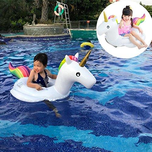 Unicorno gonfiabile piscina, salvagente unicorno con ali materassino gonfiabile di piscina bambini piscina gonfiabile piscina giocattolo unicorno bambino anello di nuoto