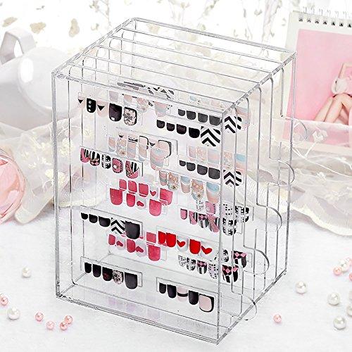 Transparent Acrylique Nail Beauty Display Boîte de rangement Bijoux Etui antidéflagrant