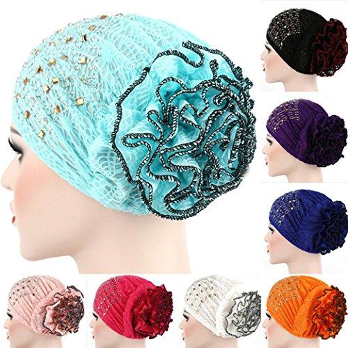 0122d50a163 Kingko® Women s Casual Muslim Stretch Turban Hat Chemo Cap Hair Loss Head  Scarf Wrap Hijib Cap One Size Adjustable - Buy Online in Oman.