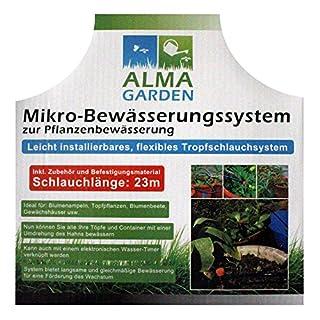 Mikro-Bewässerungssystem zur Pflanzenbewässerung inkl. Zubehör und Befestigungsmaterial - Schlauchlänge 23m