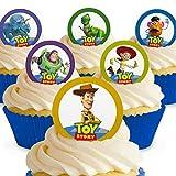 Cakeshop 12 x Vorgeschnittene und Essbare Disney Pixar Toy Story Kuchen Topper (Tortenaufleger, Bedruckte Oblaten, Oblatenaufleger)