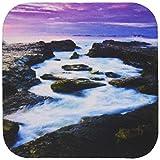 Spirituelle awakenings-beach–Atemberaubende Ocean Fotografie mit High Definition Digital Enhancement–Untersetzer, set-of-8-Soft