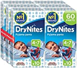 Huggies DryNites Boys Pants 4-7 Years, Designs May Vary - 6 Packs ( Total 6 x 10 Pants)