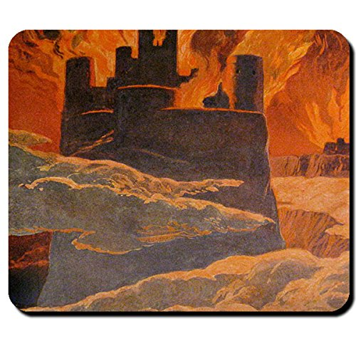 Ragnarök Wallhal fuoco MONDO Brand Surt røkkr destino Götter Völuspá mondo Naufragio-Mouse Mousepad Computer PC Laptop # 16117