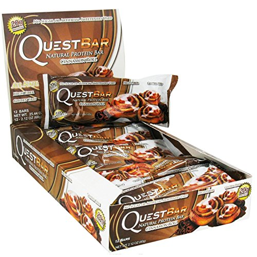 Quest Nutrition Protein Bar Cinamon Roll, 12 x 60 g, 1er Pack (1 x 720 g) (Protein Cinnamon Roll)