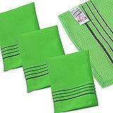 Skincaremedi esfoliante bagno salvietta guanto tipo (pezzi) Colore verde Made in Corea viscosa/Easy to Exfoliate/Frash sensazione/Advanced viscosa