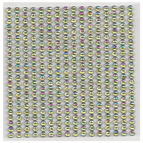 16 Bordüren mit 23 selbstklebenden Glitzersteine in hellgrün 4 mm