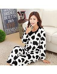 &zhou Invierno de chaqueta pijama ocio hogar gruesas pijamas ropa conjuntos de parejas , female , xxl
