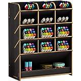 Boîte de rangement en bois multifonction pour stylos à la maison, au bureau et à l'école Noir