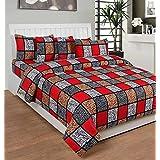 Pareza Pure Cotton Double Bedsheet Set – Double Bed Size, Multicolour, TC-160