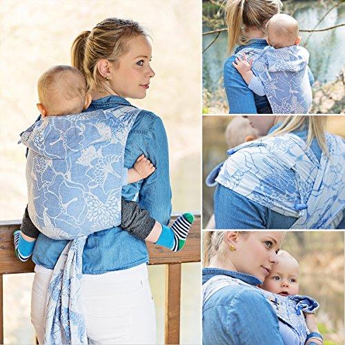 Hoppediz Hop Tye, Mei Tai Aiuto al trasporto in fascia porta bebè, pancia e schienale, compreso Illustrate