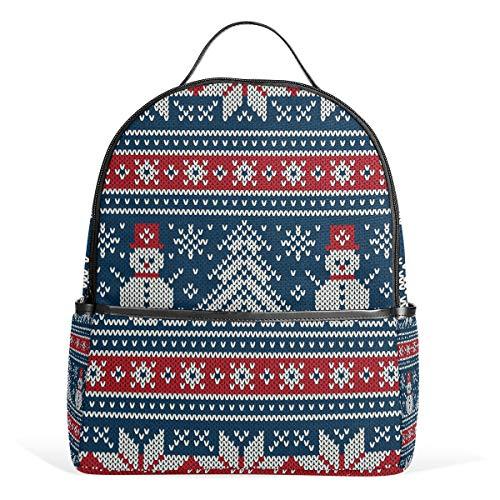 School Bag Winter Holiday Knitting Pattern Studentenrucksack for Boys Teen Girls Kids -