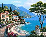Paint by Numbers, DIY Oil Painting Harbour Home House Canvas Print Wall Art Home Decoration Without Frame by Rihe