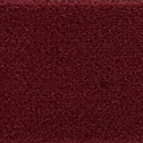Teppichboden Auslegware Meterware Velour uni rot dunkel 400 cm und 500 cm breit, verschiedene Längen, Variante: 2 x 5 m