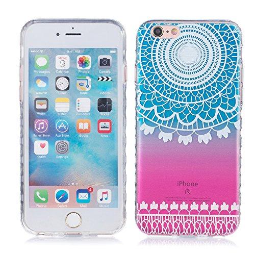 iPhone 6 Plus Hülle, E-Lush TPU Soft Silikon Tasche Transparent Schale Clear Klar Hanytasche für Apple iPhone 6/6S Plus(4,7 zoll) Durchsichtig Rückschale Ultra Slim Thin Dünne Schutzhülle Weiche Flexi Indische Sonne