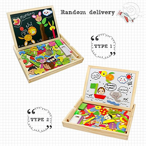 Fajiabao rompecabezas caja de madera magn tica de tablero educativo pizarra juguete puzzle para - Caja rompecabezas ...