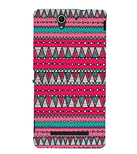 Triangular Pattern 3D Hard Polycarbonate Designer Back Case Cover for Sony Xperia C3 Dual D2502 :: Sony Xperia C3 D2533