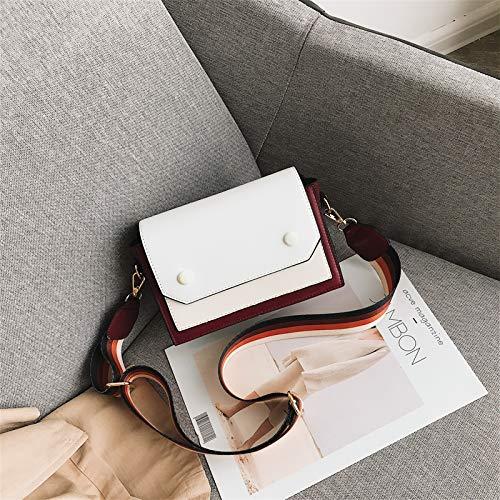 ZSBBshop Taschen Herbst und Winter stoßen Sie in Kleine Taschen, Frau, New Wave Umhängetasche, koreanische Version, Mode Broadband Satchel, weiß