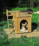 Hundehütte SONNENTERRASSE Hundehaus Tierhaus Hundehöhle Hund Holz Box Garten NEU - 5