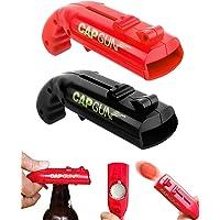 Ouvre-Bouteilles de bière, Lot de 2 Cap Gun Décapsuleur, Ouvre-canettes en Forme de Pistolet jouet pour bar fête…