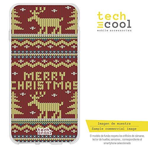 Funnytech¨ SchutzHŸlle Soft TPU Silikon HŸlle Transparent fŸr Xiaomi Redmi 4A l Case, Cover, Handy, High Definition Druck [Patron navide-o Jersey Rojo] Jackson Jersey