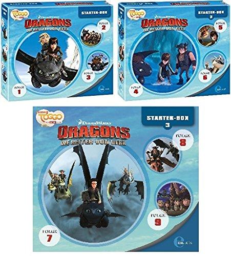 Dragons - die Reiter von Berk - Starter Box 1+2+3 (Hörspiel 1-9) im Set - Deutsche Originalware [9 CDs] (Reiter 5 7)
