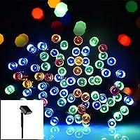 Salcar 100 LEDs Guirlande Lumineuse Solaire, 12M LED Chaîne de Lumière Noël, IP44, Eclairage de Décoration dans Intérieur et Extérieur, Jardin, Balcon pour Halloween, Party, Mariage, Fête (RGB)