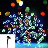 Salcar 12 Meter Solar LED Lichterkette 100-LEDs Deko Beleuchtung für Weihnachten Party Festen, 2 Leuchtmodi (RGB)